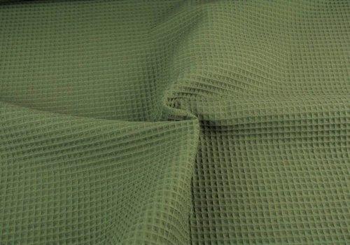 De Stoffenkamer Wafel Katoen Army Green