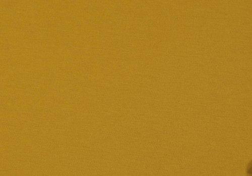 De Stoffenkamer Effen tricot mosterdgeel