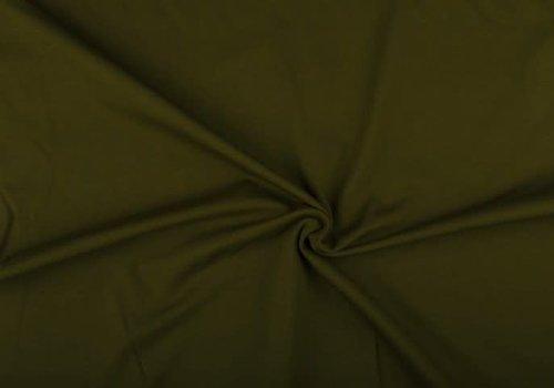 De Stoffenkamer Extra dik tricot donkerkhaki