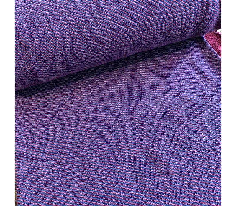 Froy & Dind red/blue stripes jacquard