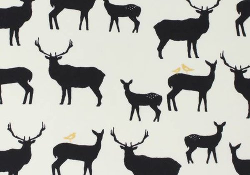 Birch Interlock white stags metallic