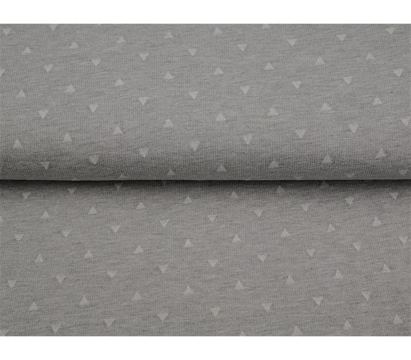 Jacquard grey triangles