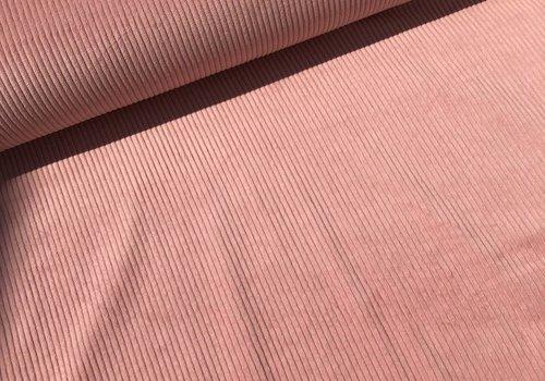 De Stoffenkamer Ribfluweel Met Brede Ribbel pink