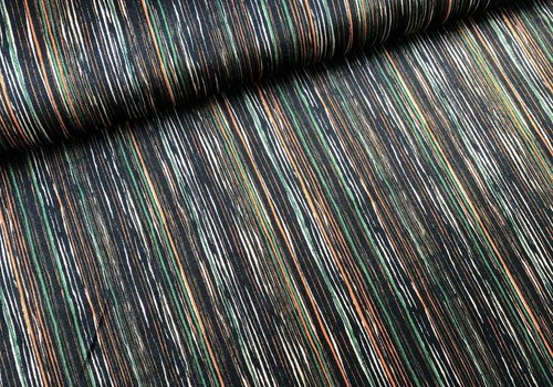 De Stoffenkamer Fluweel Velvet stripes multi
