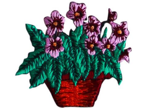 De Stoffenkamer Strijkapplicatie bloemenmand