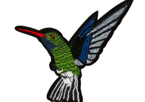 De Stoffenkamer Strijkapplicatie kolibrie groot
