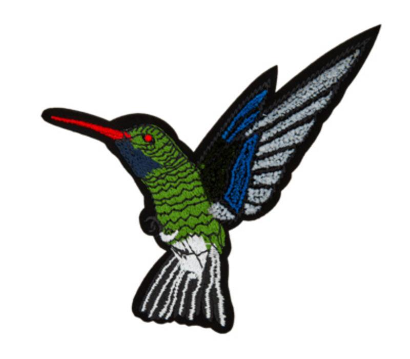 Strijkapplicatie kolibrie groot