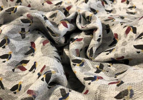 De Stoffenkamer Geweven Sweatertricot birds