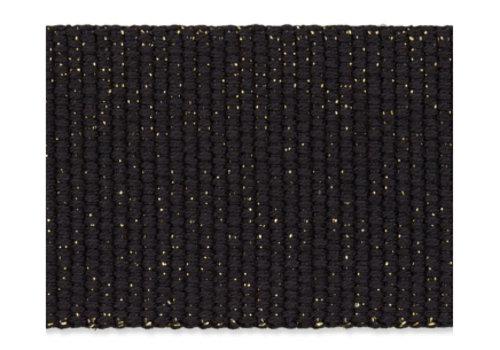 De Stoffenkamer Tassenband zwart metallic goud