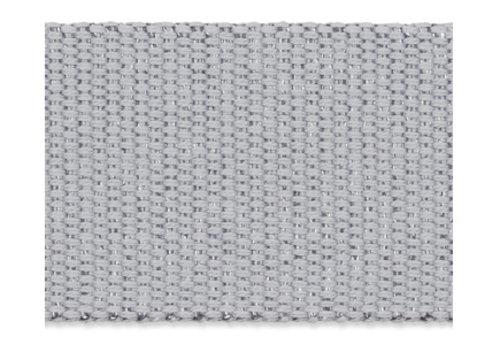 De Stoffenkamer Tassenband grijs metallic zilver