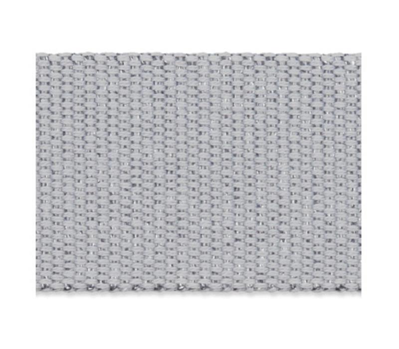 Tassenband grijs metallic zilver