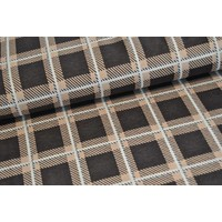 Jacquard Squares Brown