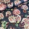 De Stoffenkamer Geweven Tricot flowers blue