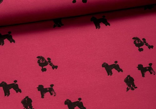 Chat Chocolat Sweater All Animals - Poodles Pink