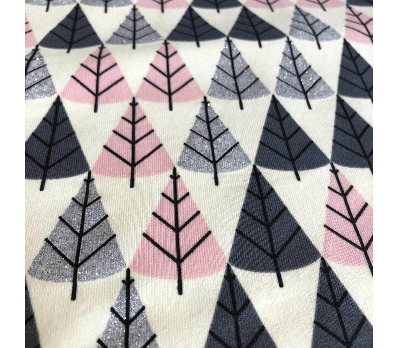 Sweater Pink Metallic trees