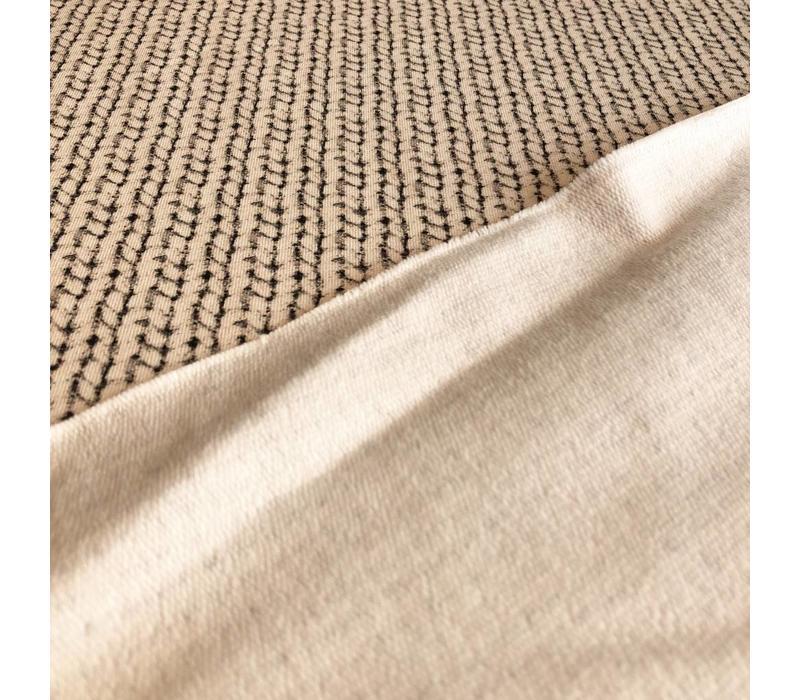 Sweater Ecru knit print