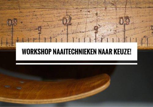 Workshop naaitechnieken naar keuze 10 & 17/12
