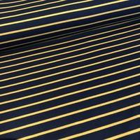 Sweater Stripes navy/oker