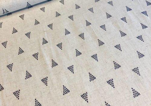 De Stoffenkamer Linen Mix ecru shapes