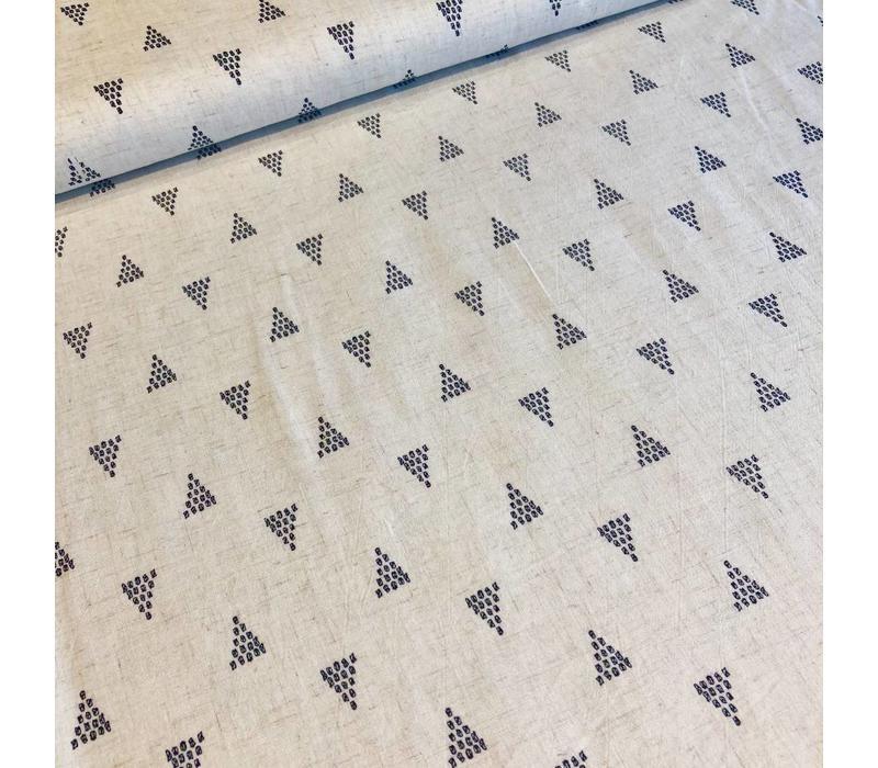 Linen Mix ecru shapes