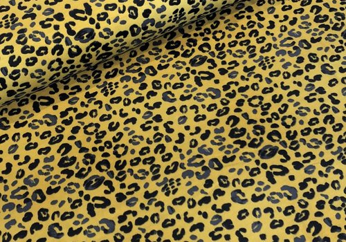 Tricot Yellow Leopard