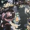 La Maison Victor Fluweel Velvet flowers green