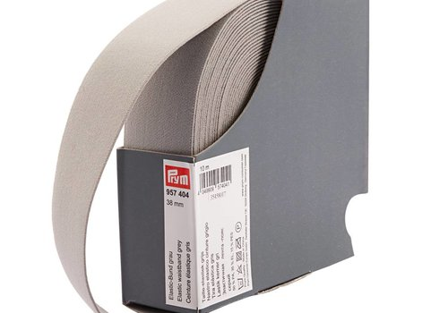 De Stoffenkamer Taille Elastiek 38mm grijs