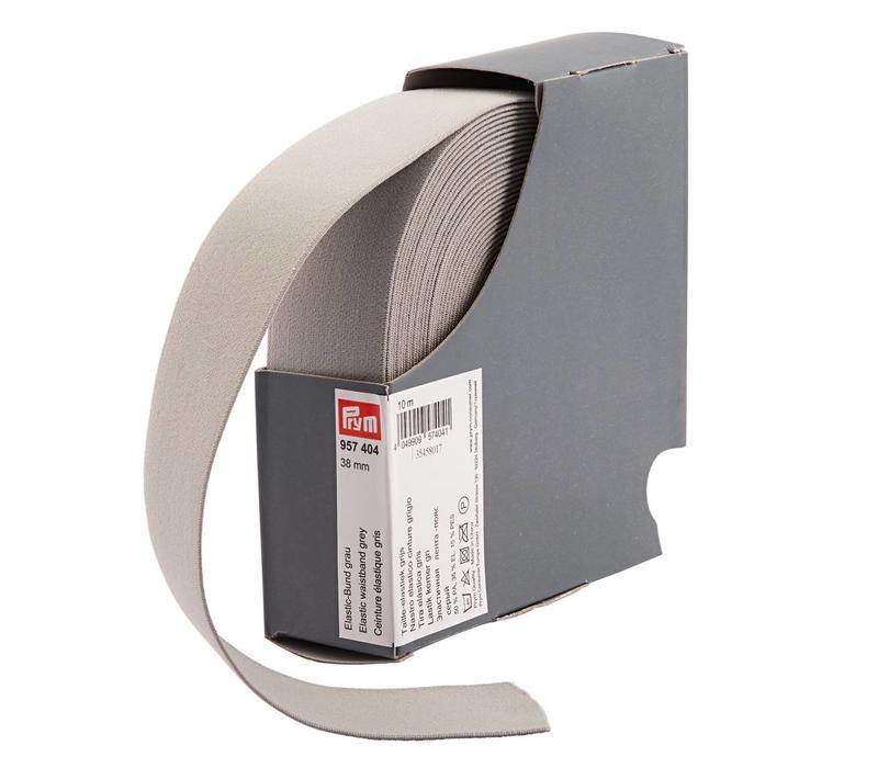 Taille Elastiek 38mm grijs