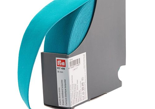 De Stoffenkamer Taille Elastiek 38mm Turquoise