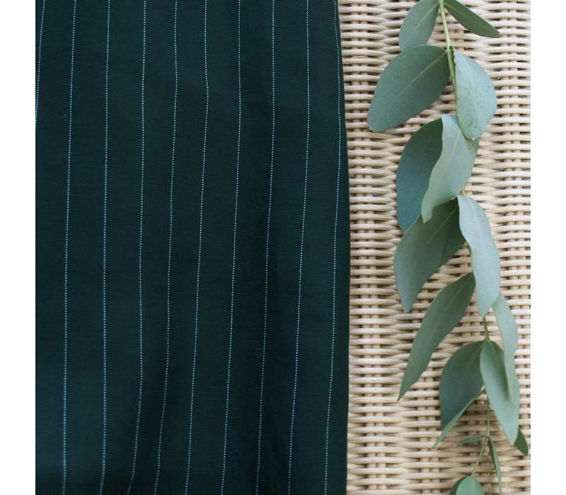 Tencel Twill Meet Milk- Stripe Green