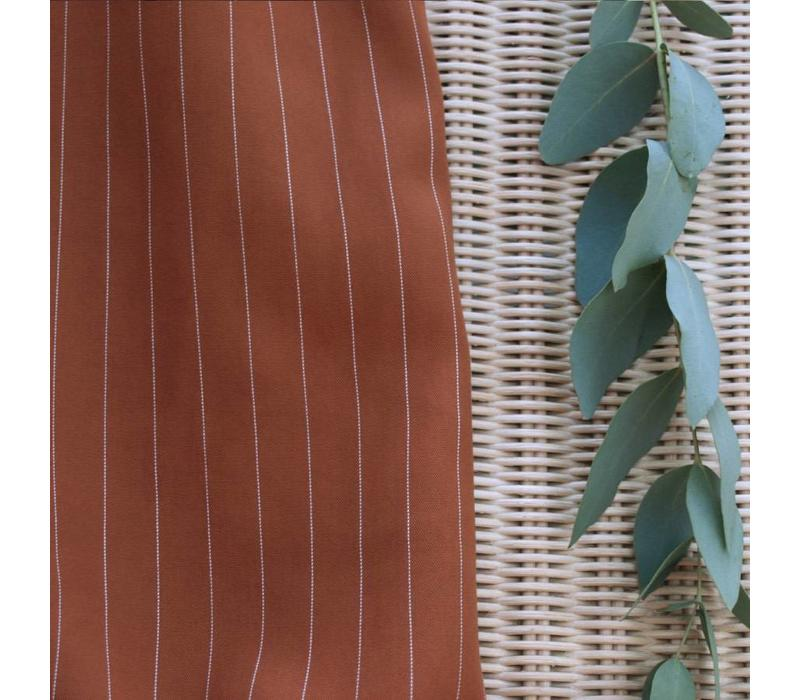 Tencel Twill Meet Milk- Stripe Bronze