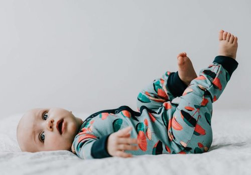 Baba Baby BIO French terry - umbrella bluegrey