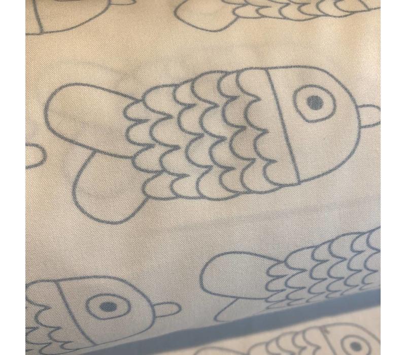 Katoen Fish Blue