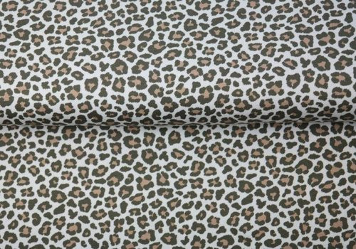 Tricot Brown Leopard