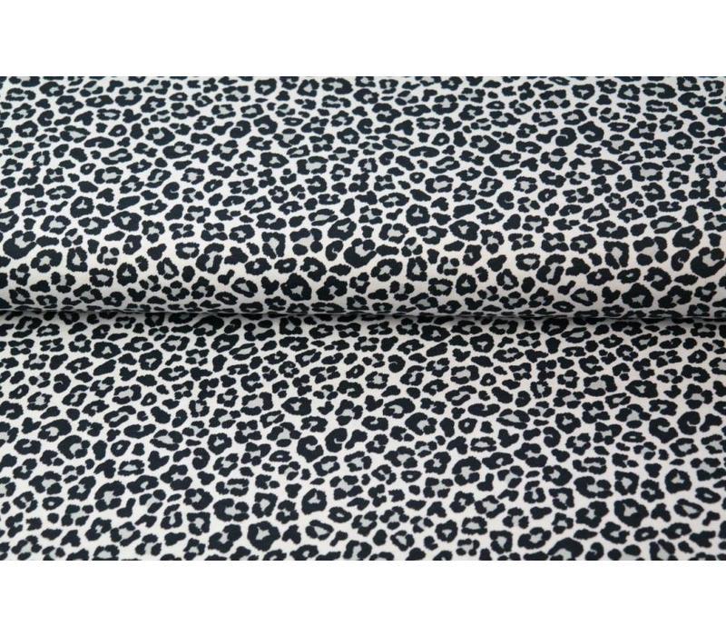 Tricot Black Leopard