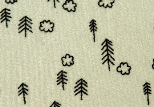Eva Mouton Terry Knit Green Trees