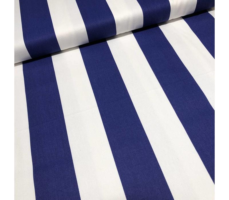 Canvas stripes bright blue