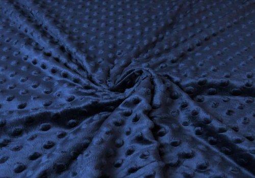 De Stoffenkamer Minky Fleece Marineblauw