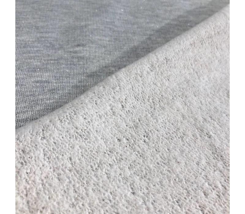 Sweater Melange glitter Grey