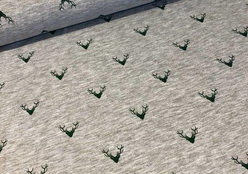 Tricot Grey melange oh deer!