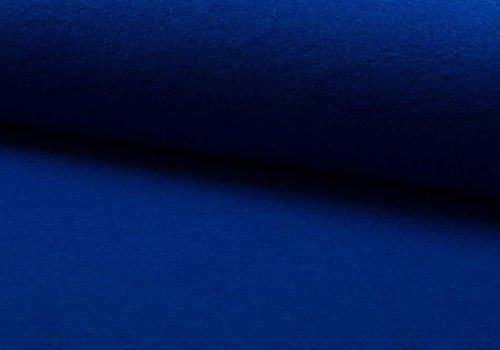 De Stoffenkamer Gekookte wol koningsblauw