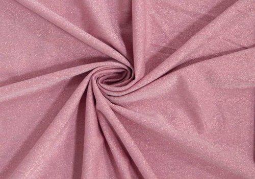De Stoffenkamer Tricot glitter roze