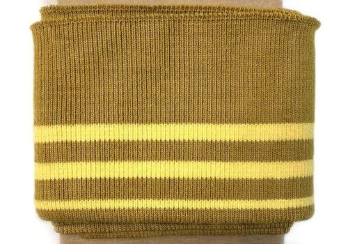 Albstoffe - Hamburgerliebe Cuff Me stripes mustard