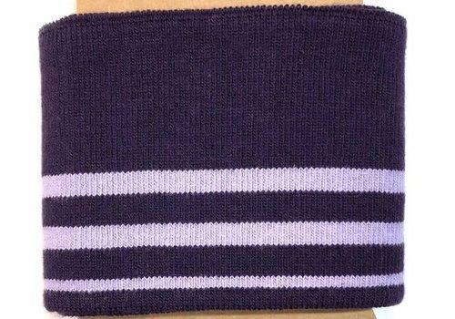 Albstoffe - Hamburgerliebe Cuff Me stripes purple