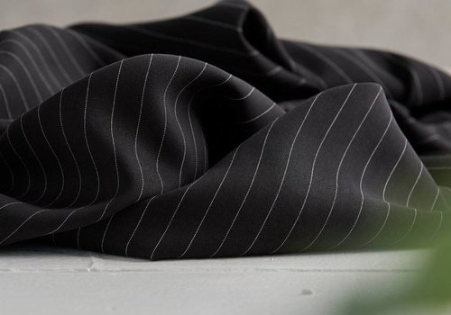MeterMeter Tencel Twill Meet Milk- Stripe black