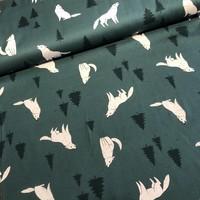 Nightsong - wolves petrolgreen