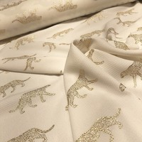 Soft blouse Metallic Leopard