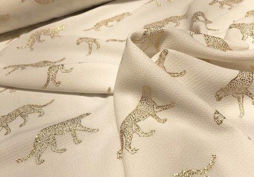 De Stoffenkamer Soft blouse Metallic Leopard