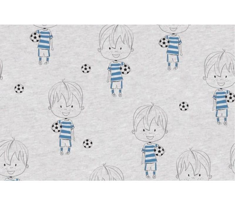 Tricot Grijs Soccer foil