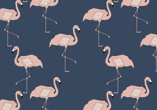 Elvelyckan Flamingo - dusty pink - blue